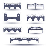 Vector bridge icon set Royalty Free Stock Photo