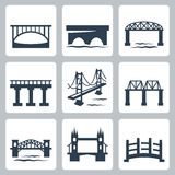Vector Bridges Icons Set Royalty Free Stock Images