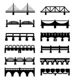 Vector bridges icons set. Vector bridges big icons set royalty free illustration