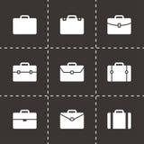 Vector briefcase icon set Stock Photo