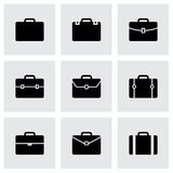Vector briefcase icon set Stock Photo