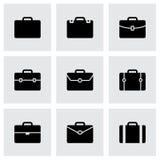 Vector briefcase icon set. On grey background Stock Photo