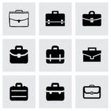 Vector briefcase icon set Stock Photography