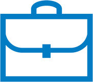 Vector briefcase illustration Royalty Free Stock Image