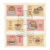 Vector Briefmarken Lizenzfreies Stockfoto