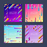 Vector bright abstract gradient placard design template - set of 4 Royalty Free Stock Image