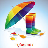 Vector bright autumn background Stock Photo