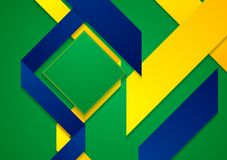 Vector bright background in Brazilian colors Royalty Free Stock Photo