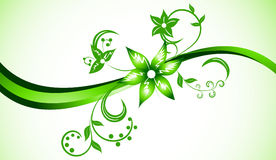 Vector bright background in green color Stock Photos