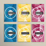 Vector bright circles on a colored background Stock Images