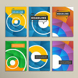 Vector bright circles on a colored background Stock Photos