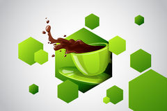 Vector bright color cup of hot drink Royalty Free Stock Photo