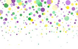 Mardi Gras carnival circles confetti background stock illustration