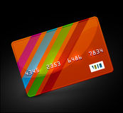 Vector bright credit card icon Stock Photography