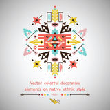 Vector bright decorative element on aztec style Stock Photography