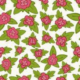 Vector bright floral seamless pattern - flower with leaves Stock Photography