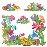 Vector bright flower frame Royalty Free Stock Photo
