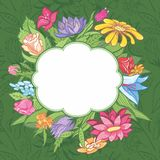 Vector bright flower frame Royalty Free Stock Photography