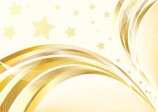 Vector bright golden background Royalty Free Stock Photography