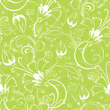 Vector bright green floral seamless pattern Royalty Free Stock Images