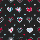 Vector bright hand drawn doodle hearts St Stock Photos