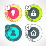 Vector bright infographic circles set in modern Stock Photography