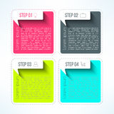 Vector bright infographic template in modern flat Royalty Free Stock Images