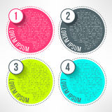 Vector bright infographic template in modern flat Royalty Free Stock Photo