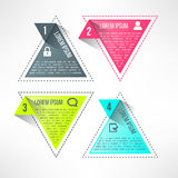 Vector bright infographic template in modern flat Stock Images