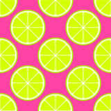 Vector bright lime slices seamless background Royalty Free Stock Images