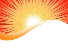 Vector bright orange background royalty free illustration