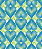Vector bright ornate pattern with graphic lines, symmetric strip Stock Photo