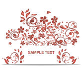 Vector bright red banner Royalty Free Stock Photography