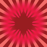 Vector bright red star. Royalty Free Stock Photo