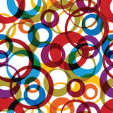 Vector bright round rainbow circles, textile Stock Photography
