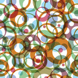 Vector bright round rainbow circles, textile Royalty Free Stock Photos