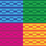 Vector bright set of backgrounds with lines and squares. Stock Image