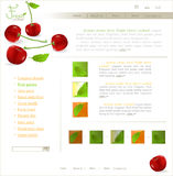 Vector bright site with berries Royalty Free Stock Images