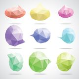 Vector bright speech cloud and blobs. Vector triangle bright speech cloud and blobs Stock Photo