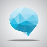 Vector bright speech cloud and blobs. Vector triangle bright speech cloud and blobs Stock Image