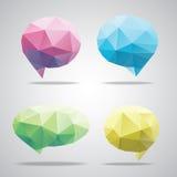 Vector bright speech cloud and blobs. Vector triangle bright speech cloud and blobs Stock Photos