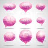 Vector bright speech cloud and blobs. Vector triangle bright speech cloud and blobs Royalty Free Stock Photo
