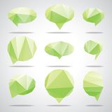 Vector bright speech cloud and blobs. Vector triangle bright speech cloud and blobs Royalty Free Stock Image