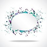 Vector bright speech cloud and blobs. Vector bright watercolor speech cloud and blobs Royalty Free Stock Image