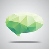 Vector bright speech cloud and blobs Stock Photography