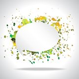 Vector bright speech cloud and blobs. Vector bright watercolor speech cloud and blobs Royalty Free Stock Photo