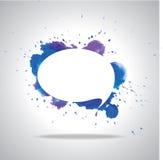 Vector bright speech cloud and blobs. Vector bright watercolor speech cloud and blobs Stock Image