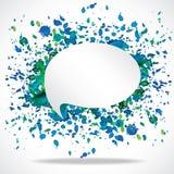 Vector bright speech cloud and blobs. Vector bright watercolor speech cloud and blobs Stock Images