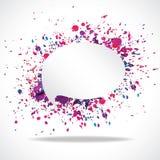 Vector bright speech cloud and blobs. Vector bright watercolor speech cloud and blobs Royalty Free Stock Photos