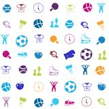 Vector bright sports icons set Royalty Free Stock Image